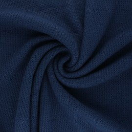Knitted polyviscose fabric - navy blue Morélie x 10cm