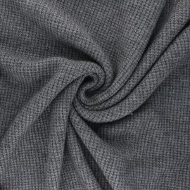 Knitted polyviscose fabric - grey Morélie x 10cm