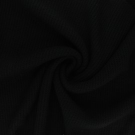 Knitted polyviscose fabric - black Morélie x 10cm