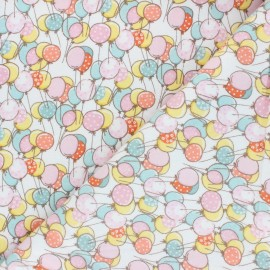 Flannel Fabric - white Playful Cuties x 10cm