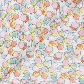 Tissu Flanelle Playful Cuties - blanc x 10cm