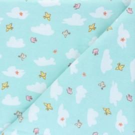 Tissu Flanelle Playful Cuties - bleu x 10cm