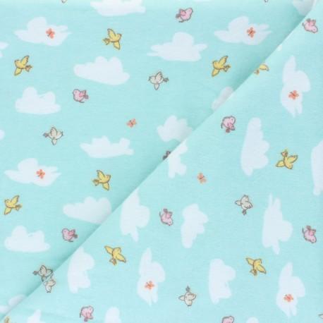 Flannel Fabric - blue Playful Cuties x 10cm