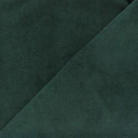 Tissu velours ras Melda 200gr/ml Vert sapin x10cm