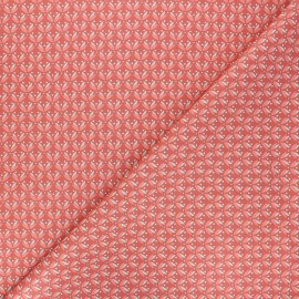 Tissu coton popeline Poppy Floral Fantasy - terracotta x 10cm