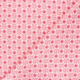 Tissu coton popeline Poppy Floral Fantasy B - rose x 10cm