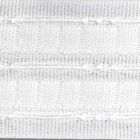 ruban fronceur 70 mm blanc