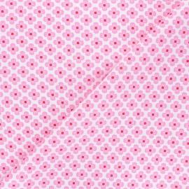 Tissu popeline de coton Fiona Hewitt - Sweet Japan Flowers - rose x 10cm