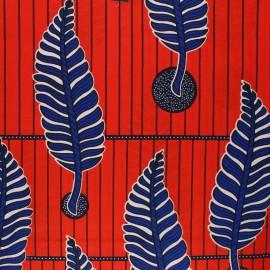 Tissu Wax Kingari - rouge x 10cm
