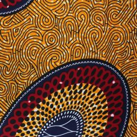 Tissu Wax Naberera - orange x 10cm