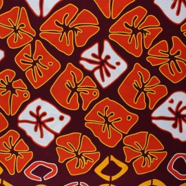 Tissu Wax Mugumu - marron x 10cm
