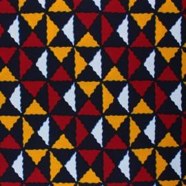 Tissu Wax Kiroeri - noir x 10cm