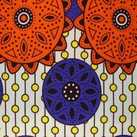 Tissu Wax Malya - ivoire x 10cm