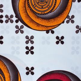 Tissu Wax Bubada - blanc x 10cm