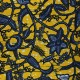 Wax print fabric - yellow Nyonga x 10cm