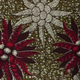 Wax print fabric - khaki green Lagosa x 10cm