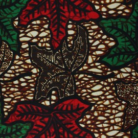 Wax print fabric - brown Saza x 10cm