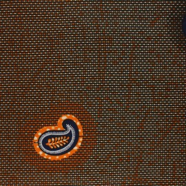 Tissu Wax Nyoni - orange x 10cm