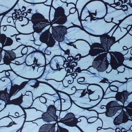 Wax print fabric - blue Mwili x 10cm