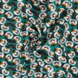 Domotex Viscose Fabric - emerald green Dimeo x 10cm