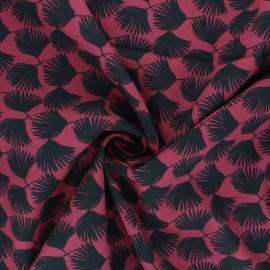 Tissu viscose Comea - amarante x 10cm