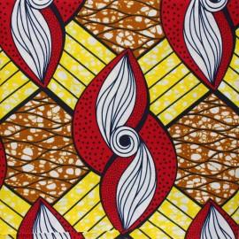 Tissu Wax Kilwa - jaune x 10cm