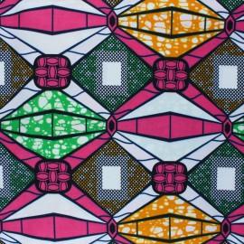 Wax print fabric - pink Waliya x 10cm