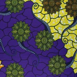Tissu Wax Kallia - jaune x 10cm