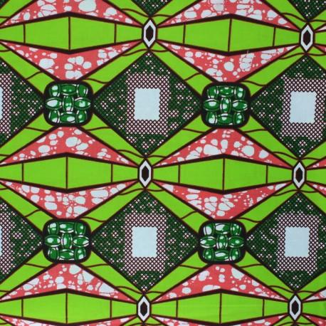 Wax print fabric - green Waliya x 10cm