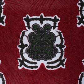 Tissu Wax Masiaka - rouge x 10cm