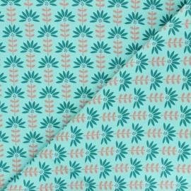 Tissu coton popeline Poppy Floral Fantasy C - vert x 10cm