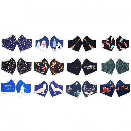 Mask cotton fabric - Christmas Time x 70cm
