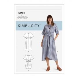 Patron Robe ceinturée Femme - Simplicty n°S9101