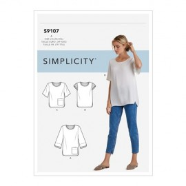 Blouse sewing Pattern for Woman - Simplicty n°9107