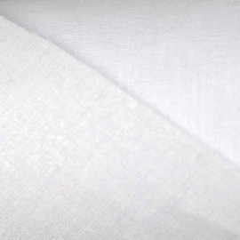 percale coton thermocollant 90 cm blanc