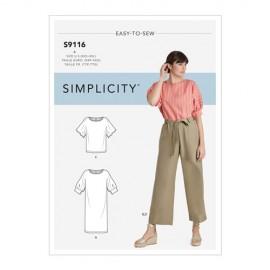 Patron robe, top et pantalon Femme - Simplicty n°S9116