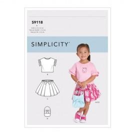 Patron jupe, top et sac Enfant - Simplicity n°S9118