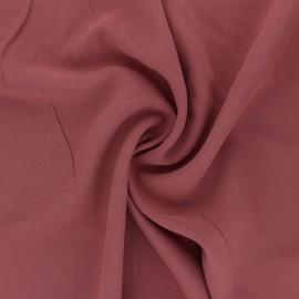 Tissu Viscose uni Simplicité - bois de rose x 10cm