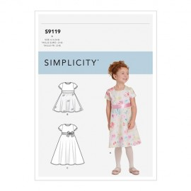 Dress sewing Pattern for Children - Simplicity n°9119