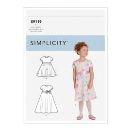 Patron robe dos nu Enfant - Simplicity n°S9119