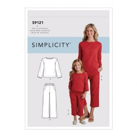 Chill outfit sewing Pattern for Children and women - Simplicity n°9121