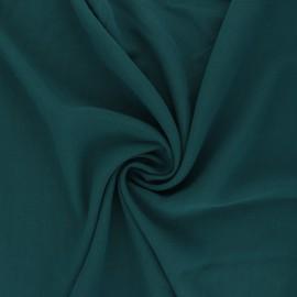 Plain Viscose fabric - peacock blue Simplicité x 10cm