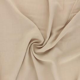 Plain Viscose fabric - sand Simplicité x 10cm
