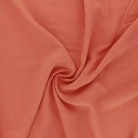 Plain Viscose fabric - apricot Simplicité x 10cm