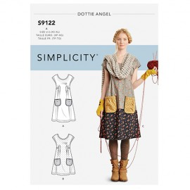 Patchwork dress sewing Pattern for Woman - Simplicity n°S9122