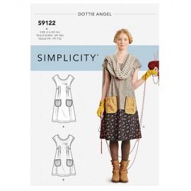 Patron Robe et blouse Patchwork Femme - Simplicity n°S9122