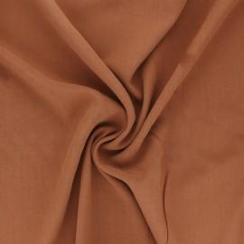Plain Viscose fabric - camel Simplicité x 10cm