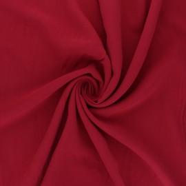 Plain Viscose fabric - red Simplicité x 10cm