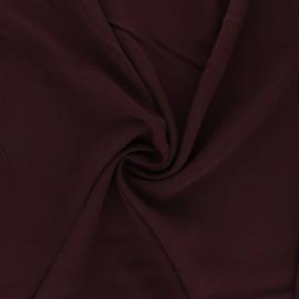 Plain Viscose fabric - wine Simplicité x 10cm