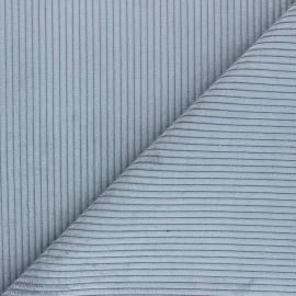 Tissu velours à grosses côtes Lisboa - gris perle x10cm